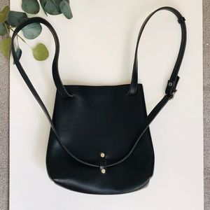 Urban Outfitters Bags - Black Faux Leather Bucket Bag/Backpack